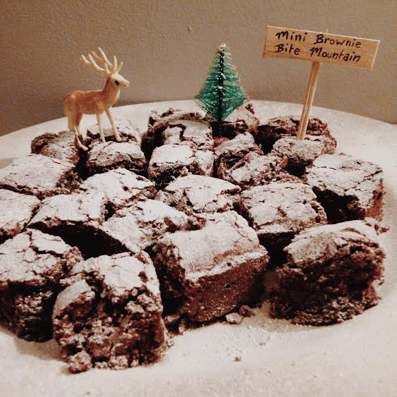 Mini brownie mountain